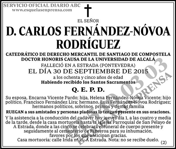 Carlos Fernández-Nóvoa Rodríguez